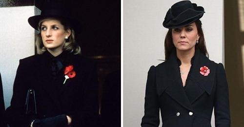 Te presentamos 9 ocasiones en que Kate Middleton se vistió como la princesa Diana