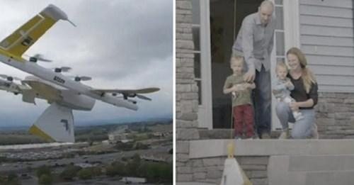 Bibliotecaria envía libros vía drone a niños encerrados en casa