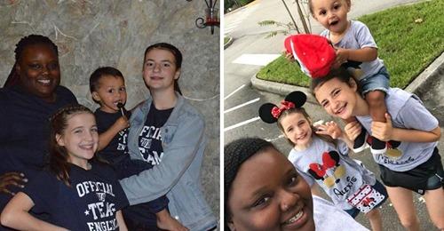 Mujer afroamericana que adoptó a tres niños blancos habla sobre lo que la gente le pregunta en público