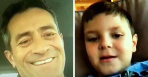 Un niño autista viajó solo en avión, pero su compañero de asiento le envía un mensaje a su madre