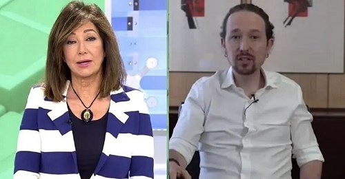 Ana Rosa Quintana y Vicente Vallés responden al vídeo de Podemos