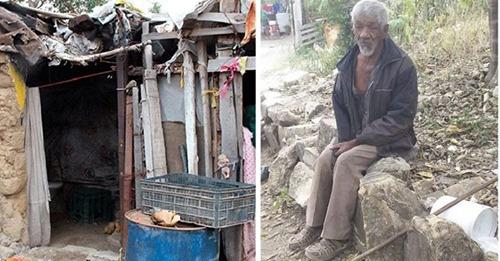 Su familia lo deja completamente abandonado y duerme sobre piedras – «Es pobre entre los pobres»
