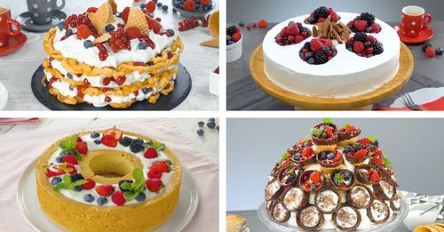 5 sensacionales pasteles de bayas | Recetas de tartas de frutas del bosque