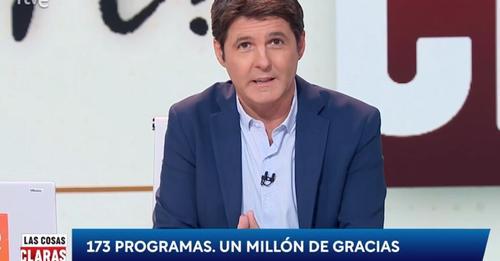 Jesús Cintora despide el programa 'Las cosas claras' presentándose como perseguido por dos gobiernos y atacando a RTVE