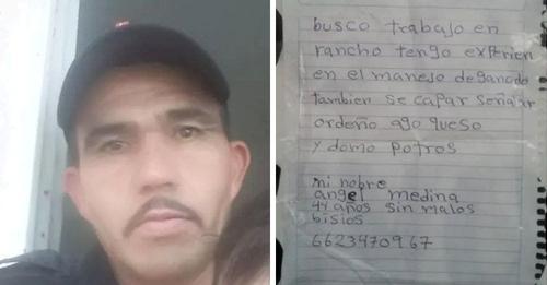 Hombre desempleado escribe su currículo a mano llorando y recibe decenas de ofertas de inmediato